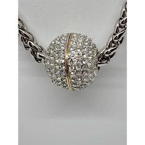 Jewelry - Silver Rhinestone Ball Pendant Necklace
